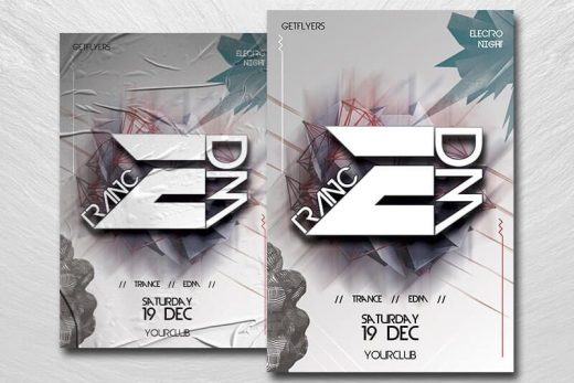 Trance EDM Free Flyer Template (PSD)