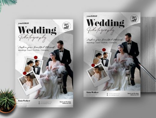 Wedding Photography Free Flyer Template (PSD)