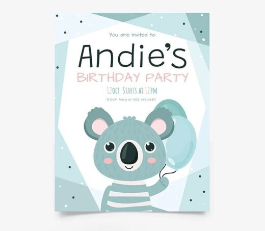 Baby Birthday Invitation Free Flyer Template (PSD)