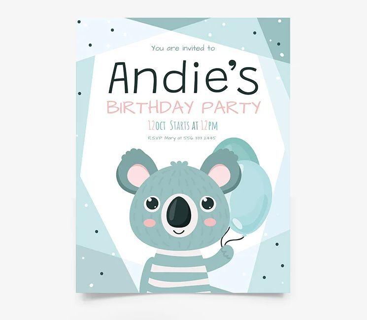Baby Birthday Invitation Free Flyer Template (PSD)