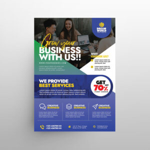 Business Promotion Free Flyer Template (PSD)