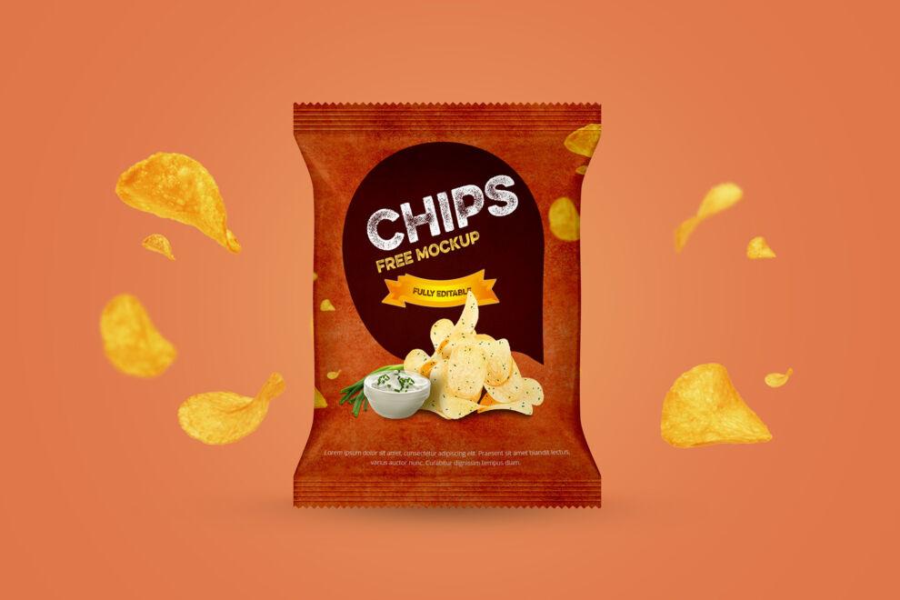 Chips Packet Free Mockup (PSD)
