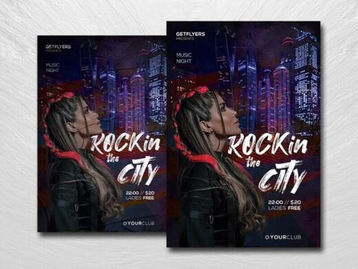 City Urban Party Free Flyer Template (PSD)