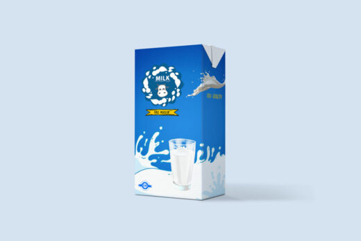 Classic Milk Packaging Free Mockup
