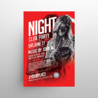 Club Music Party Free Flyer Template (PSD)