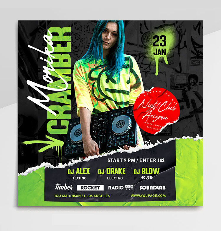 DJ Guest Free Instagram Banners (PSD)