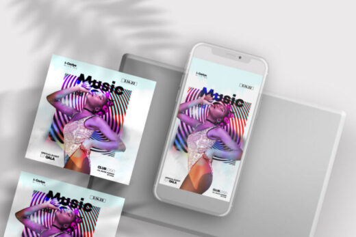 Dance Music Party Free Instagram Template (PSD)