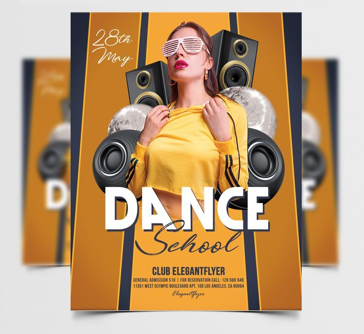 Dance School Free Flyer Template
