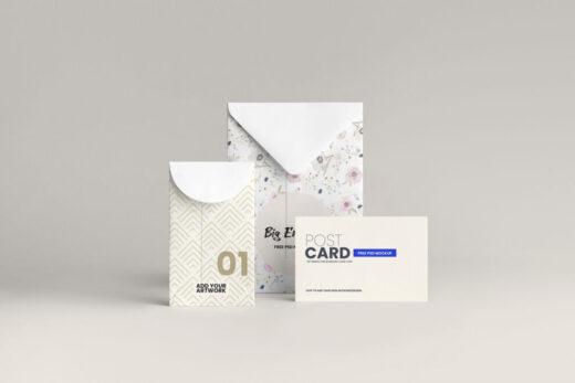 Envelope Stationery Free Mockup
