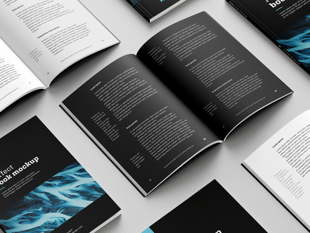 Free 8 Book Mockups (PSD)