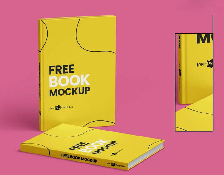 Free Book Covers Mockup Set (PSD)