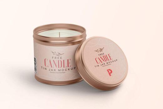 Free Candle Tin Jar Mockup (PSD)