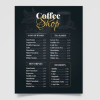Free Coffee Shop Menu Template (PSD)