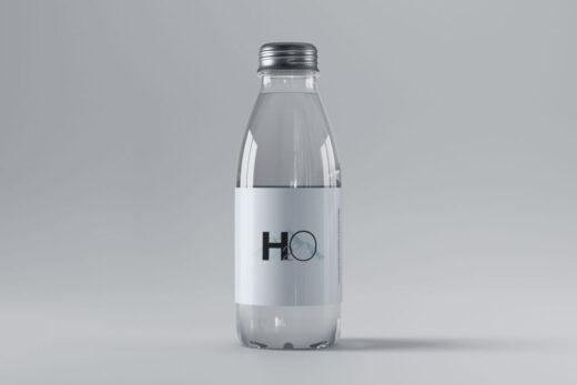 Free Mini Glass Bottle Mockup