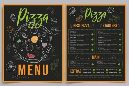 Free Restaurant Pizza Menu Template (PSD)