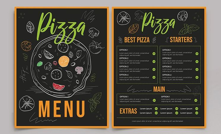 Free Restaurant Pizza Menu Template (PSD)