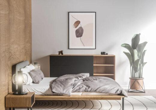 Free Room Interior Poster Frame Mockup (PSD)