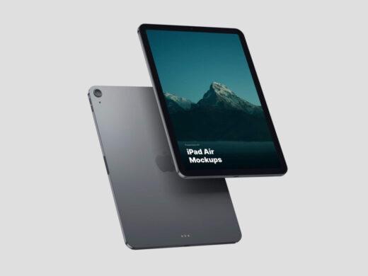 Free Space Gray iPad Air Mockup