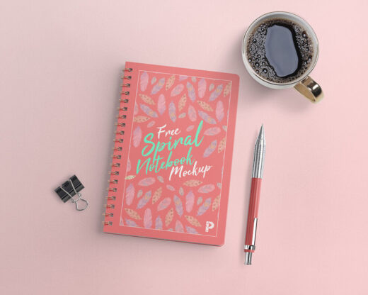 Free Spiral Notebook Mockup (PSD)