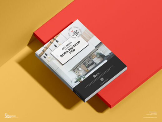 Free US Letter Size Book Mockup