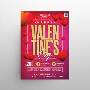 Free Valentine's Day Special Event Flyer Template (PSD)