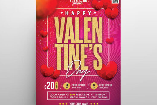 Free Valentine's Day Special Event Flyer
