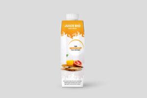 Juice Box Packaging Free Mockup