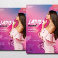 Ladies Vibe Night Free Flyer Template (PSD)
