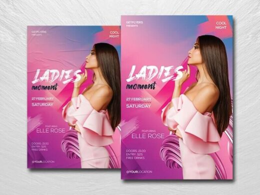 Ladies Vibe Night Free Flyer Template (PSD)