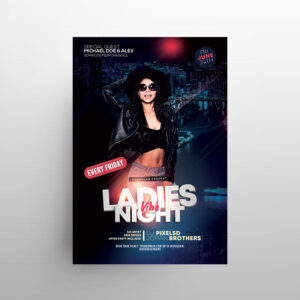 Ladies Vibe Party Free Flyer Template (PSD)