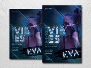 Nightclub Vibes Free Flyer Template (PSD)