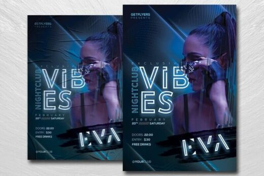 Nightclub Vibes Free Flyer Template (PSD)