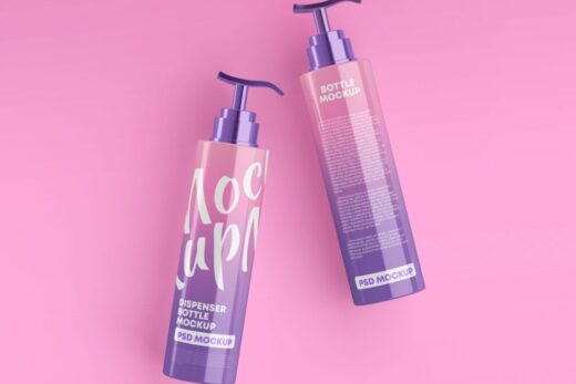 Shampoo Pump Bottle Free Mockup