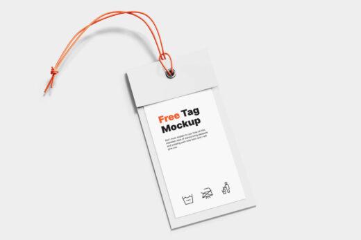 Simple Label Tag Free Mockup (PSD)