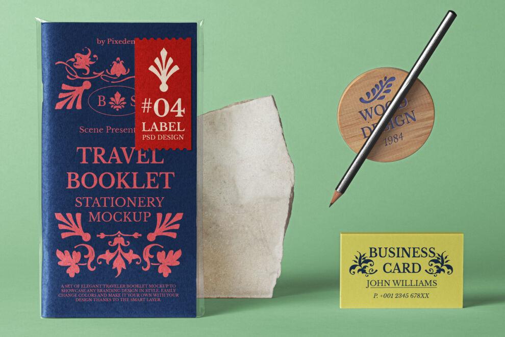 Travel Booklet Free Mockup