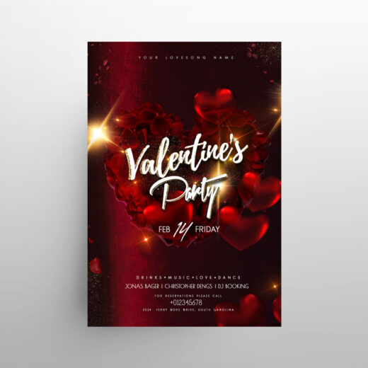 Valentine's 2021 Day Event Free Flyer Template (PSD)