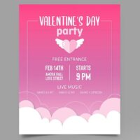 Valentine's Day Party Free Flyer