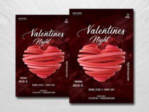 Valentine's Nightclub Free Flyer Template (PSD)
