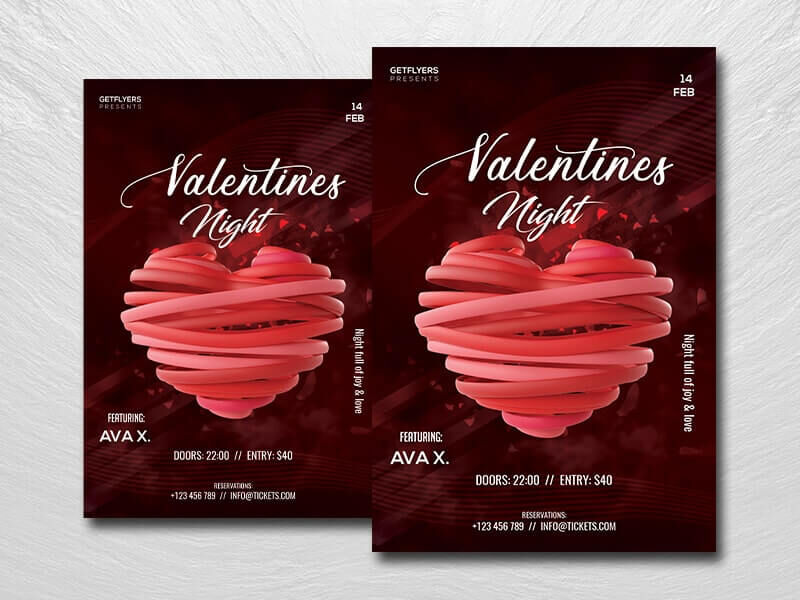 Valentine's Nightclub Free Flyer