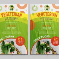 Vegeterian Food Ad Free Flyer Template