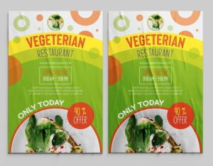 Vegeterian Food Ad Free Flyer Template (PSD)