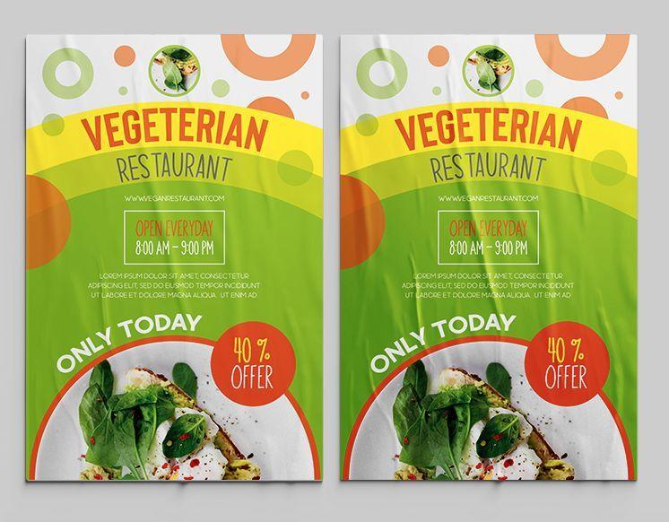 Vegeterian Food Ad Free Flyer Template