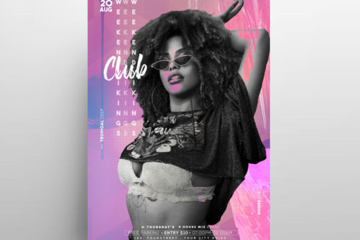 2021 Music Event Vibe Free Flyer Template (PSD)