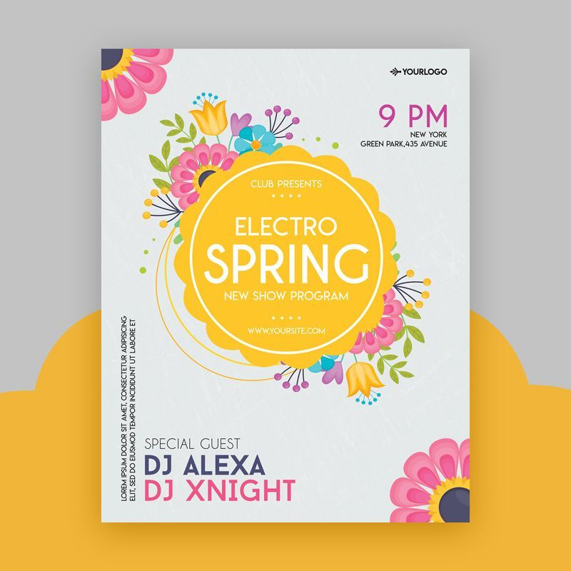 2021 Spring Vibe Event Free Flyer Template (PSD)