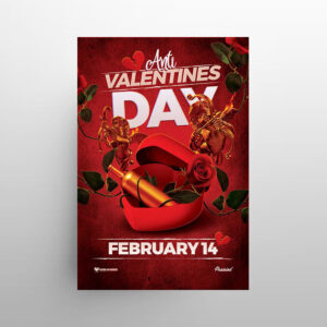 Anti Valentines Day Free Flyer Template (PSD)