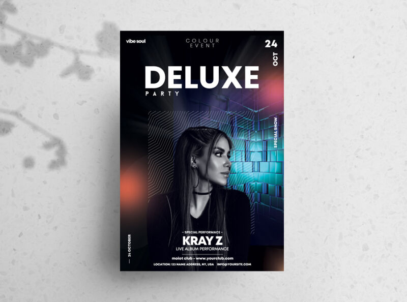 Deluxe Party Free Flyer Template (PSD)