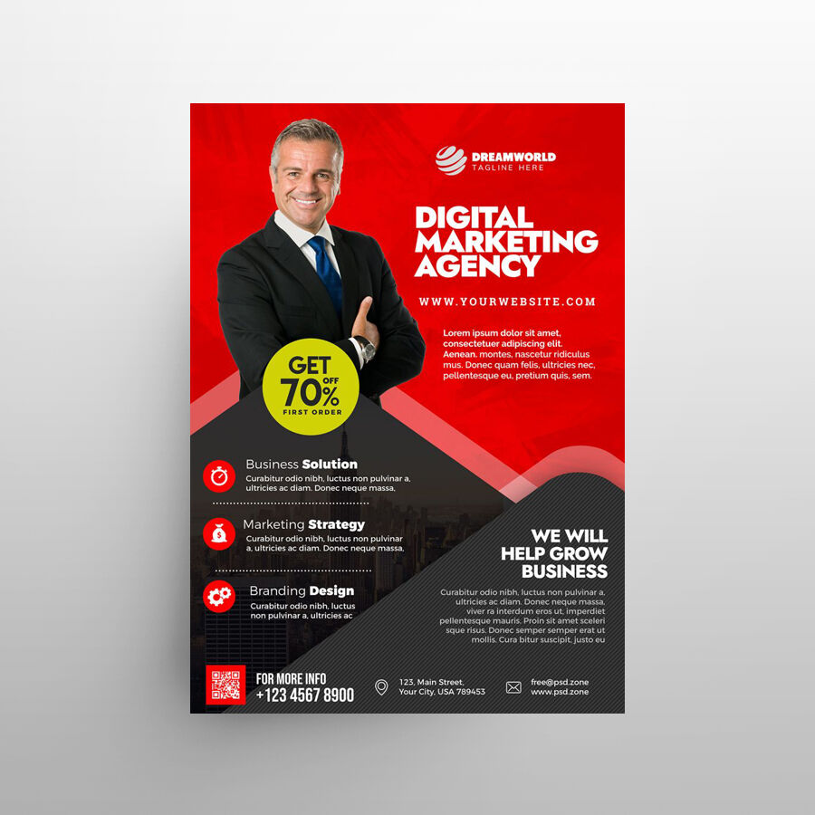 Digital Marketing Free Flyer Template (PSD)