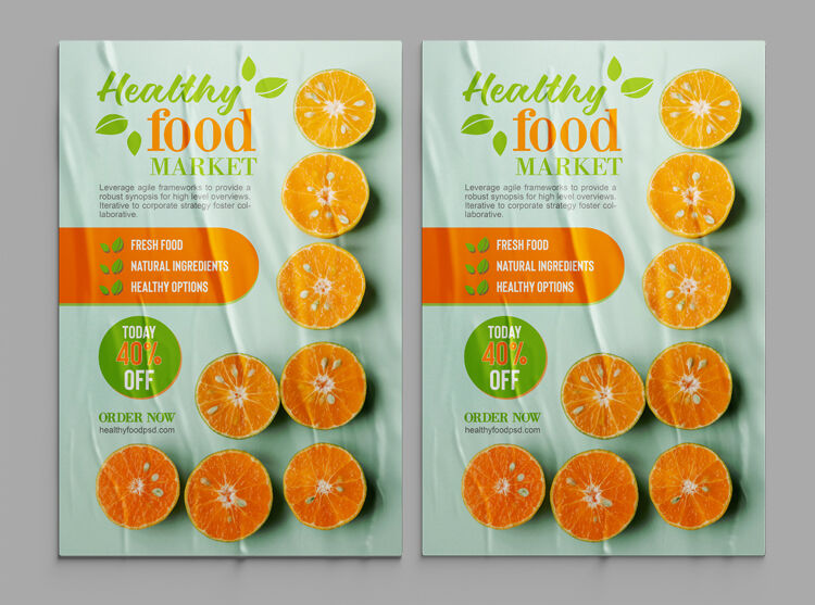 Health Food Free Flyer Template (PSD)