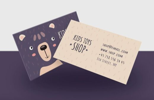 Kids Toy Shop Free Business Card Template (PSD)