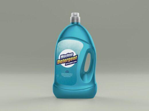Liquid Detergent Bottle Free Mockup